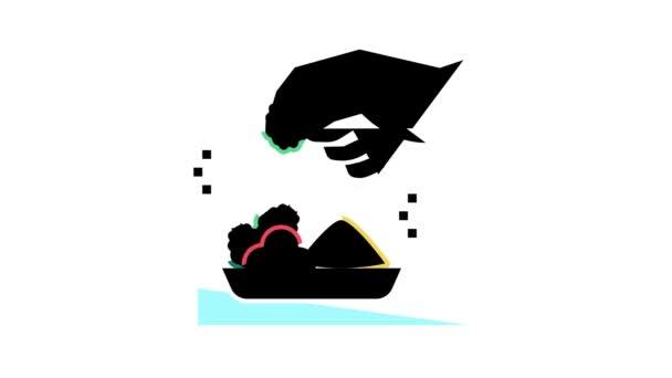 chuťové jídlo animace ikon