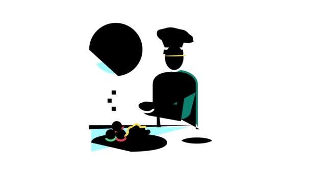 animace ikon kuchaře vaření barev