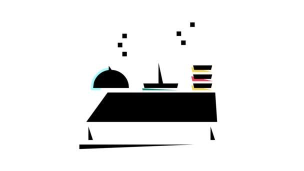 bufetová tabulka s animací ikon barev potravin