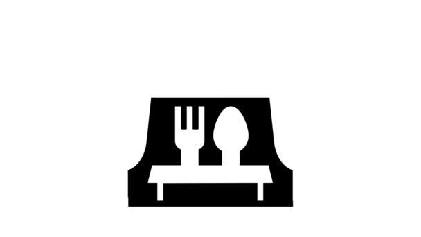 venkovní catering bufetová animace ikon glyfu