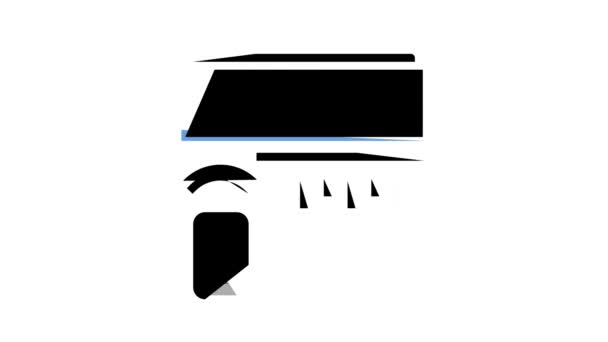 Klimaanlage, Klimaanlage Farb-Icon-Animation