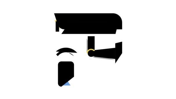 video kamera, bezpečnostní systém dálkové ovládání animace barev ikon