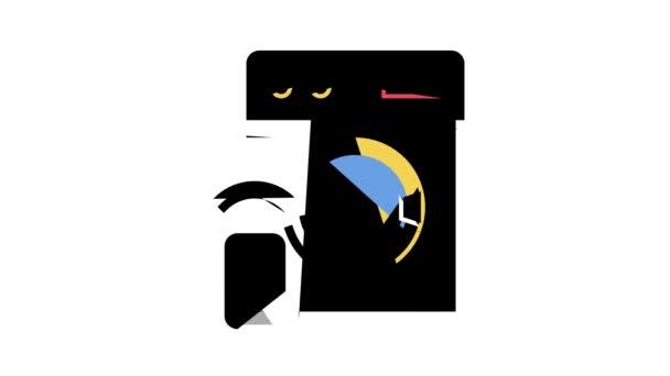 animace ikon vzdáleného ovládání pračky