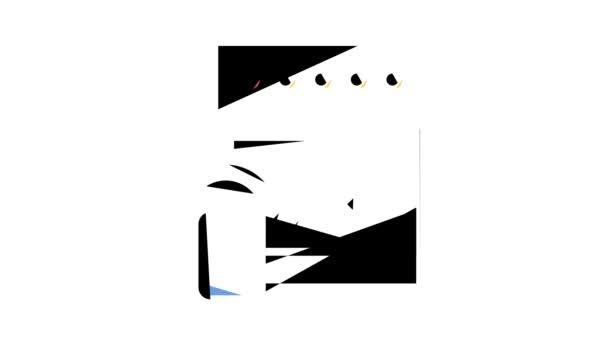 Küchenherd Fernbedienung Farb-Icon Animation
