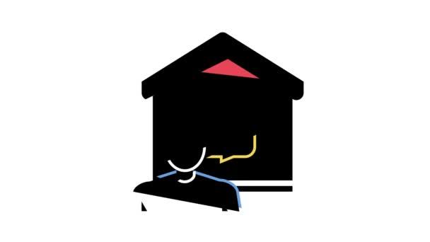 komunikace s inteligentní animací ikon domácí barvy
