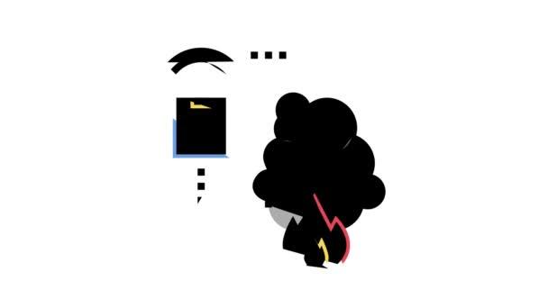 Brandmeldesystem des Smart Home Farbe Icon Animation