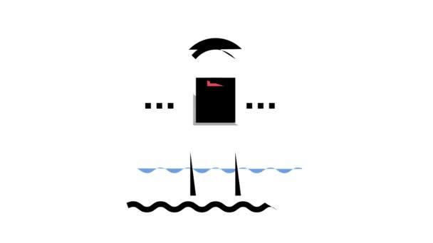 Wasserpoolsteuerung Smart Home Farb-Icon Animation