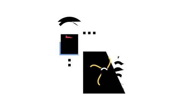 větrání inteligentní domácí barva ikony animace