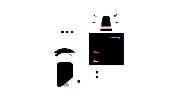Sicherheitssystem Hauptfeld Farb-Icon Animation