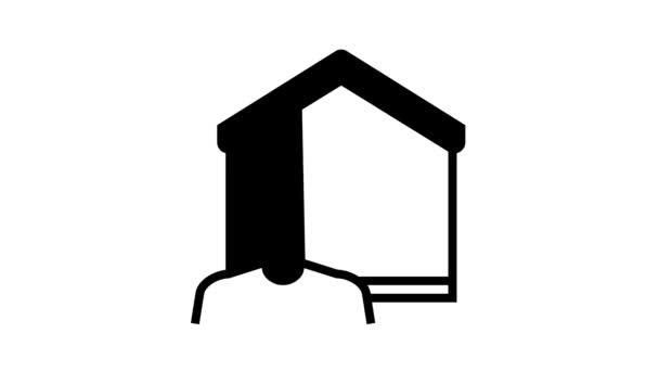 komunikace s ikonou chytré domácí linky animace