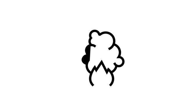 požární poplašný systém inteligentní animace ikon domácí linky