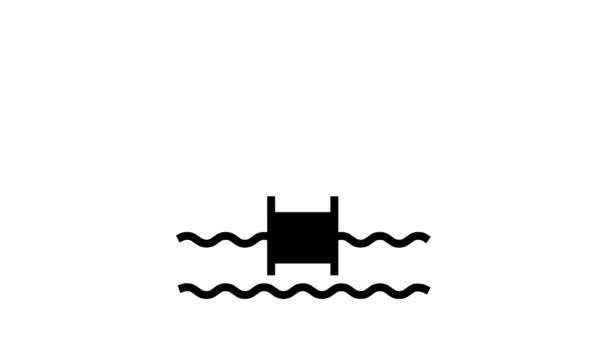 Wasserpoolsteuerung Smart Home Line Icon Animation