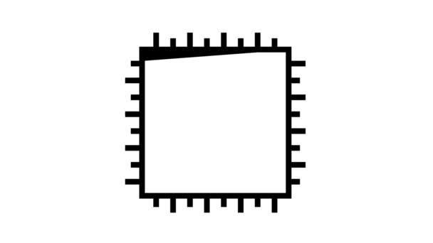 čip animace ikon chytrého domácího systému