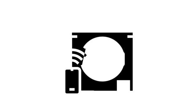 Waschmaschine Fernbedienung Glyphen-Symbol Animation