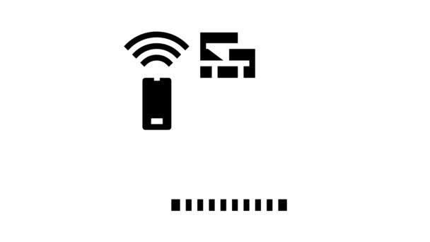 Kamin-Steuerung von Smart-Home-Glyphen-Icon-Animation