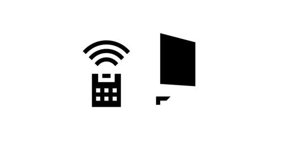 přístupový systém smart home, vzdálená animace ikon glyfu