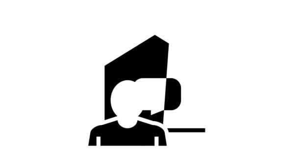 komunikace s animací ikon chytrého domácího glyfu