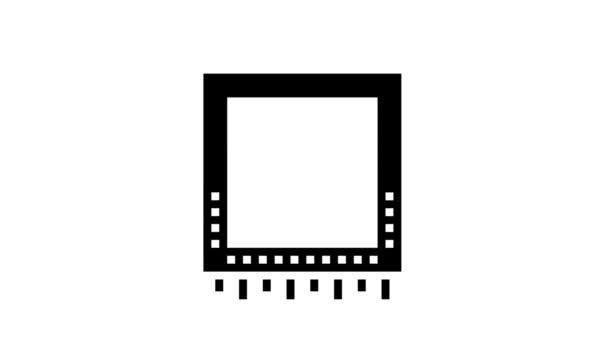 čip animace ikon chytrého domácího glyfu
