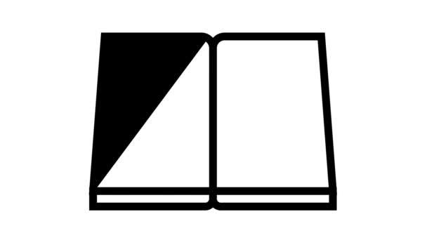 Buch Bericht Zeile Symbol Animation