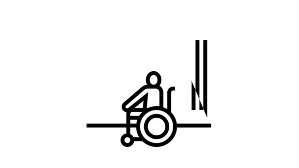 Behinderungstechnologie Animation mit schwarzem Symbol