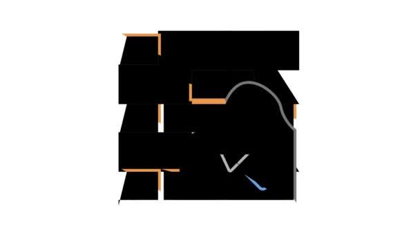 Animace ikon Insulation Building color