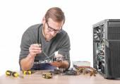 Fotografie Reparatur von computer