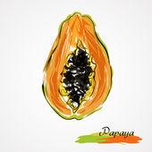 Papaya-Scheibe