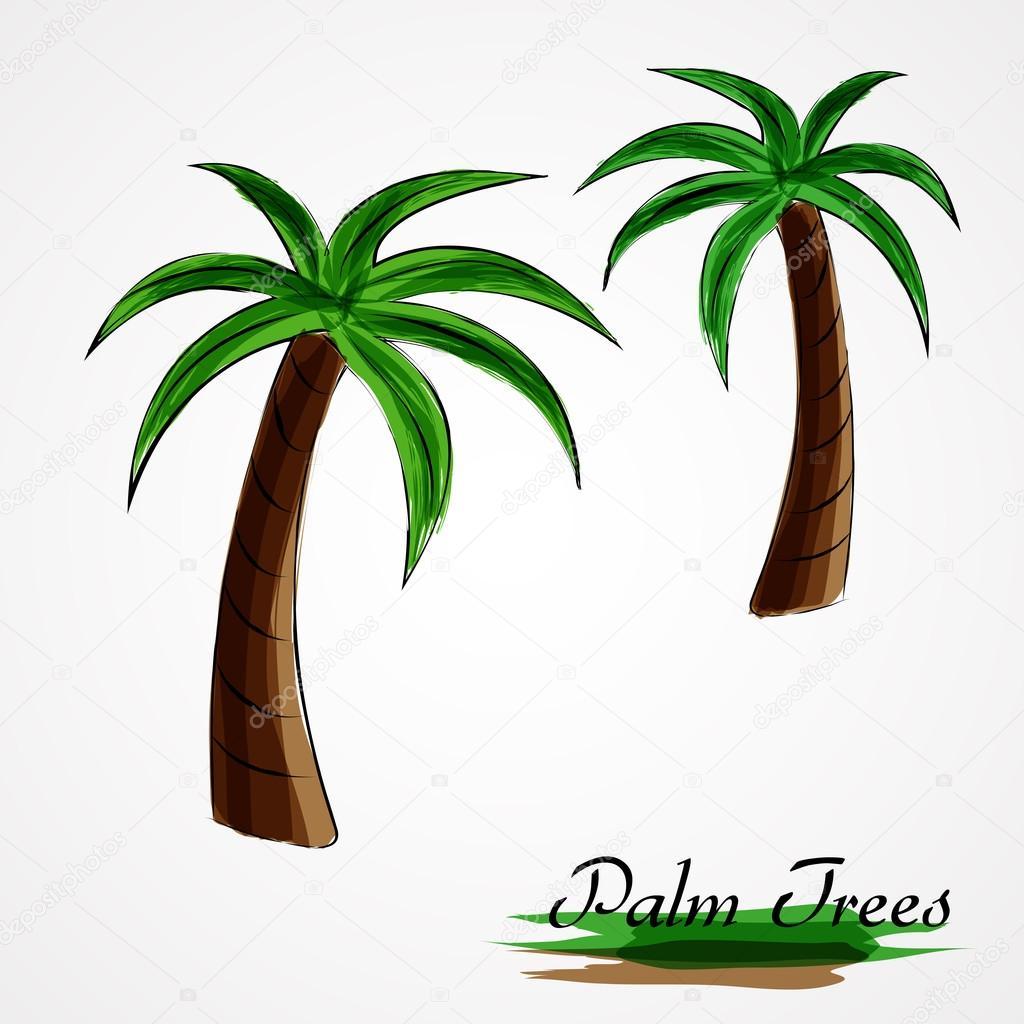 palm trees stock vector kg karolina 70523223 rh depositphotos com palm tree leaves vector free palm tree leaves vector free