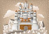 Pohádkový hrad v zimě