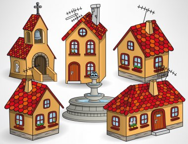 European village buildings