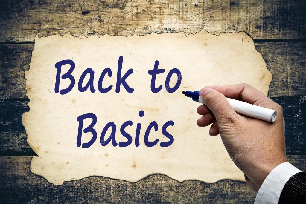 back to basics text write.