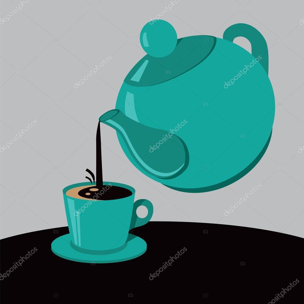 Resultado de imagem para ilustração para café no bule