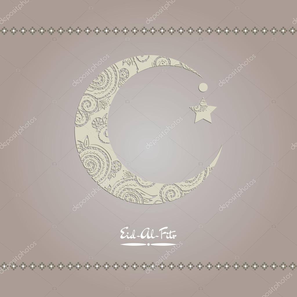 Fantastic Festival Eid Al-Fitr Decorations - depositphotos_75106221-stock-illustration-crescent-moon-decorated-with-zentangle  Graphic_42074 .jpg
