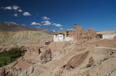 Ancient fortress and Buddhist Monastery (Gompa) in Basgo valley