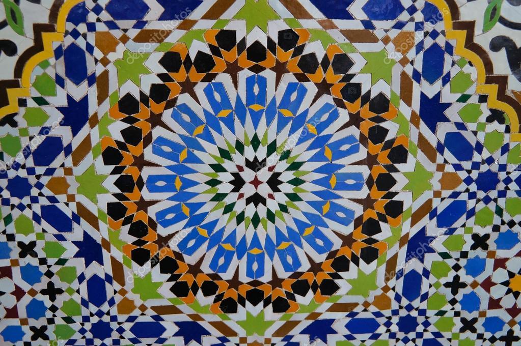 Reticolo di belle piastrelle marocchine in fez u2014 foto stock
