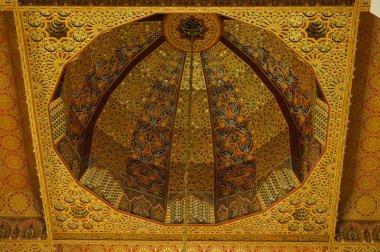 Hassan II Mosque interior vault in Casablanca Morocco.