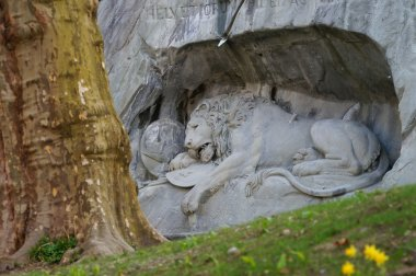 The Crying Lion Memorial, Lucerne,Switzerland