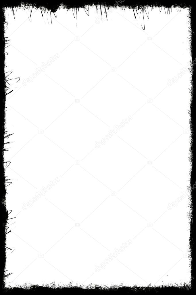 Computer entworfen hochdetaillierte Grunge frame — Stockfoto ...