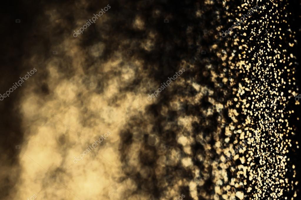 Dark Gold Glitter Wallpaper Bronze Christmas Glittering Backg Stock Photo