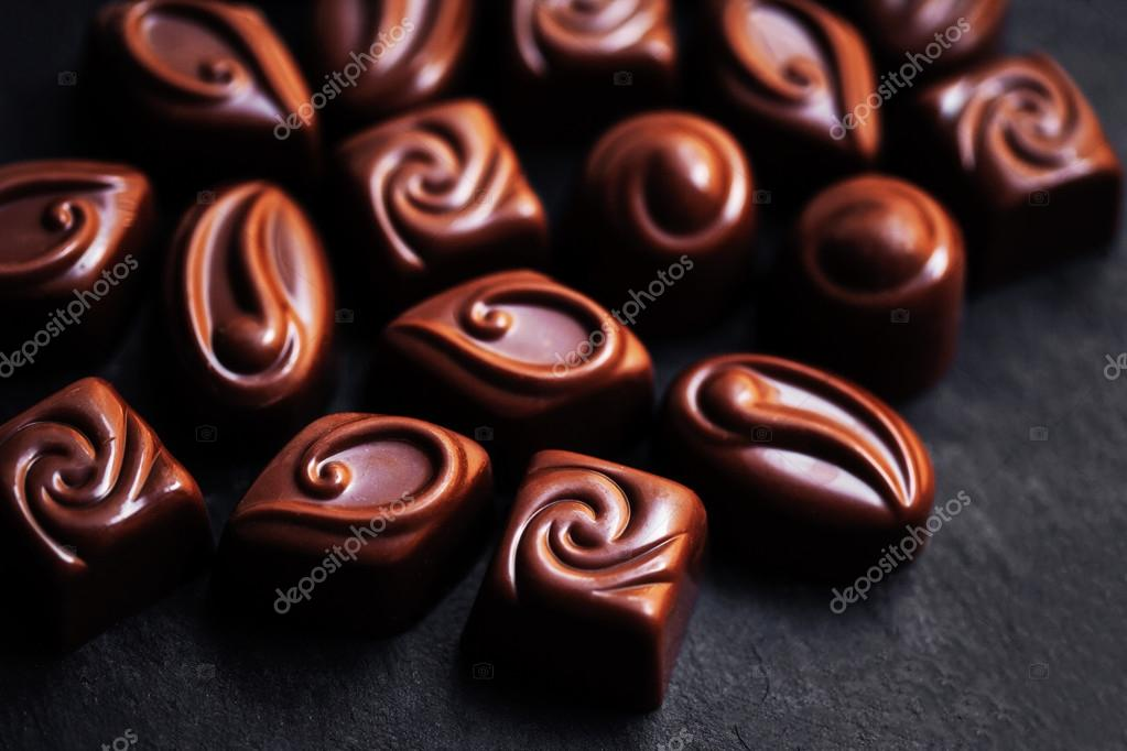 Chocolate Candy Sweet Wallpaper In High Resolution Dark Stack Chips And Powder Set Of Candies Collection Photo By Zakharova