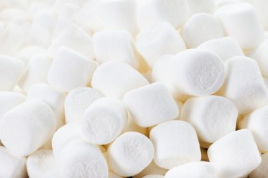 Marshmallows as a background.