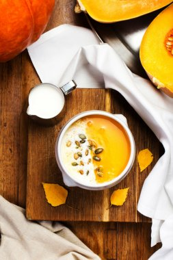 Pumpkin Soup with whipped cream