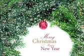 Fotografie Vánoční strom a červené cetka