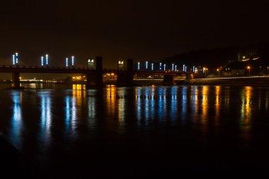 Bridge lights at night