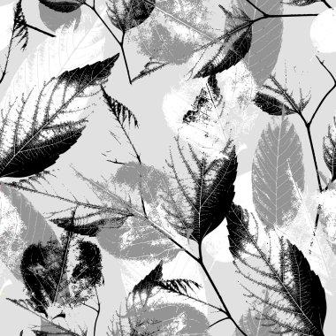Seamless vintage leaves background