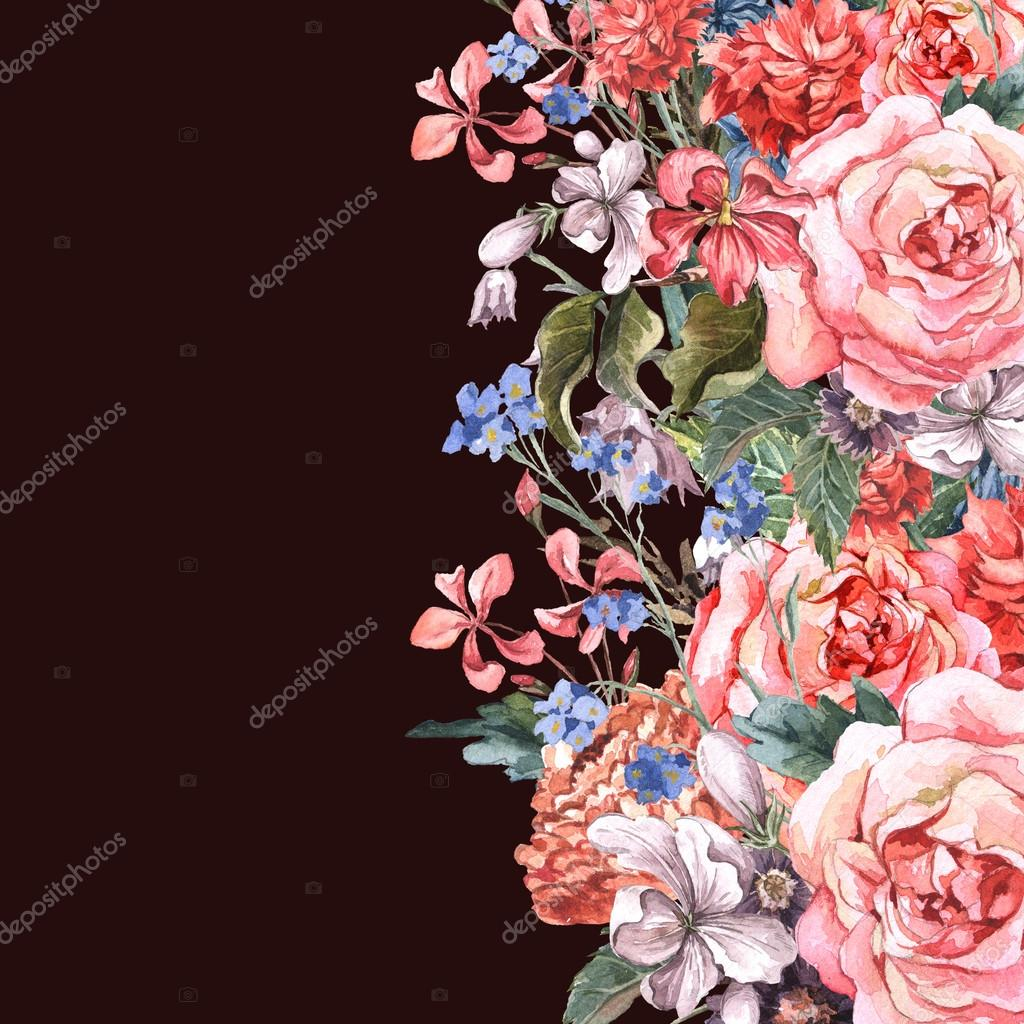 Greeting Card Floral Bouquet with roses