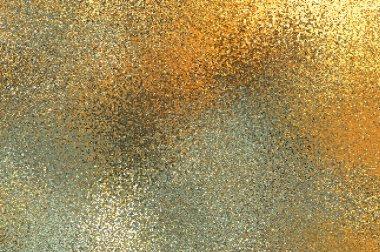 Shiny pixels movement - golden and silver nebula.
