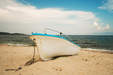 White Boat on the shore