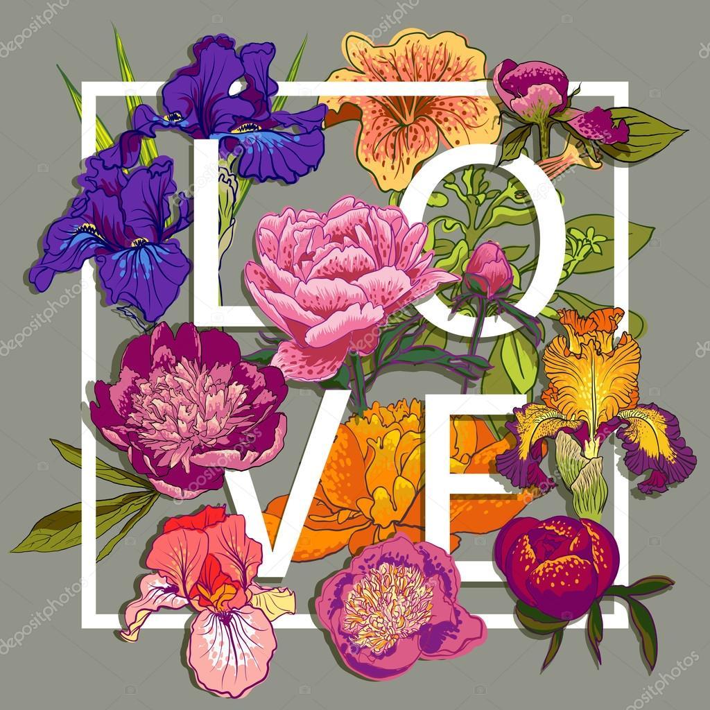 Imagenes Flores De Colores Para Imprimir Diseno Grafico De Amor