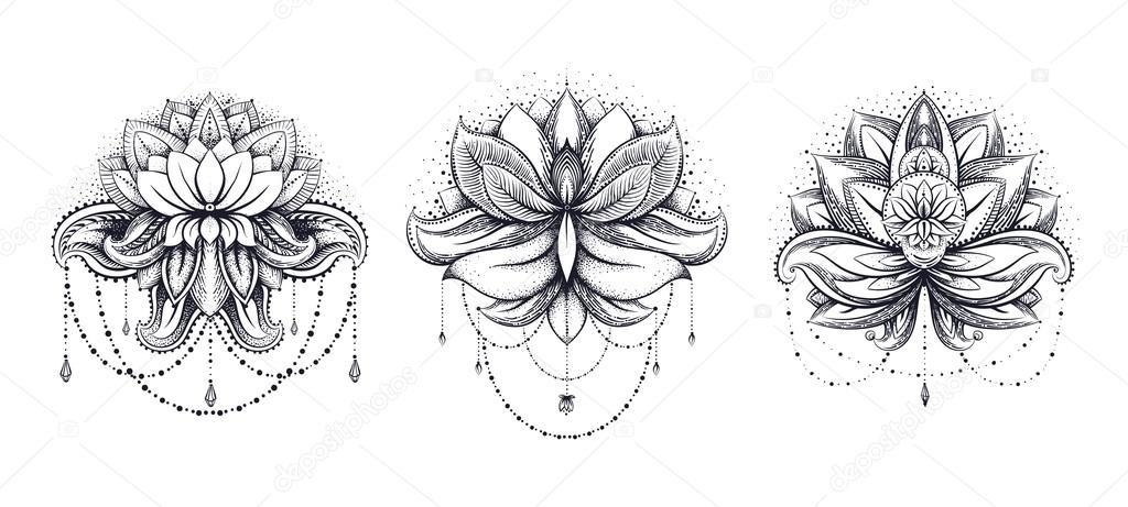 ethnische Zentangled Henna tattoo — Stockvektor © mamziolzi #122633976